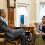 President Barack Obama meets with Attorney General Loretta Lynch in the Oval Office. April 27, 2015. (Official White House Photo by Pete Souza)